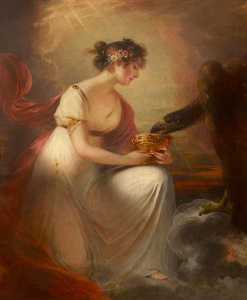 William Beechey - Frances Wyndham (1789–1848), Later Lady Burrell, as Hebe