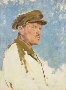 Augustus Edwin John - Portrait of a Canadian Army Officer