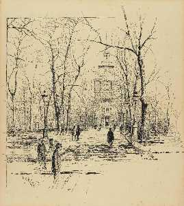 Ernest Clifford Peixotto - Philadelphia, View from the Park