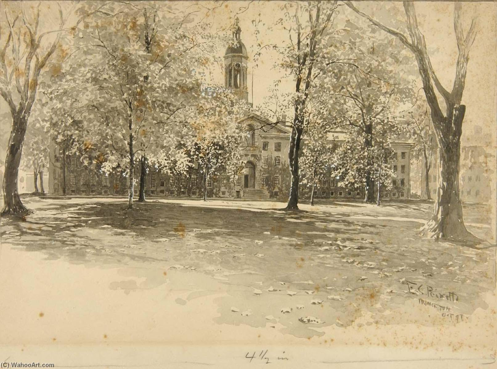 Princeton, 1897 by Ernest Clifford Peixotto (1869-1940, United States) | Museum Quality Reproductions | WahooArt.com