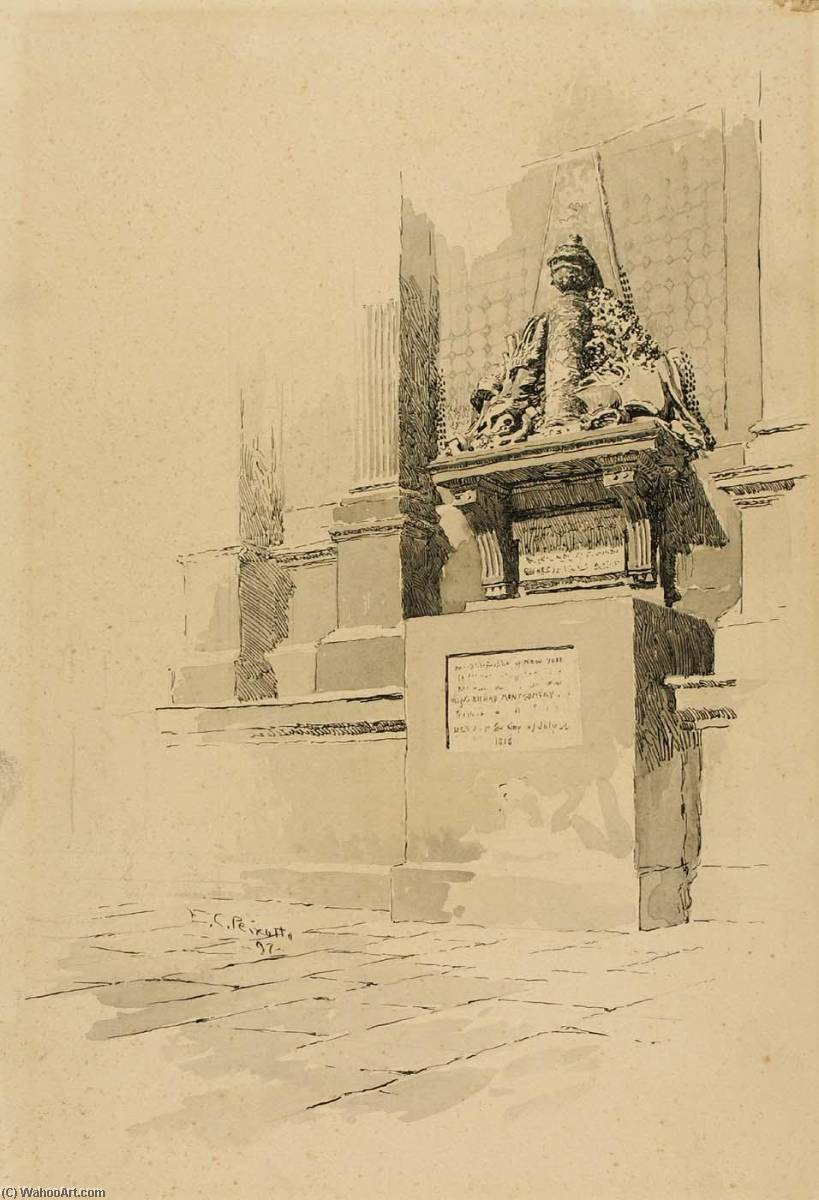 Order Art Reproduction : Monument, 1897 by Ernest Clifford Peixotto (1869-1940, United States) | WahooArt.com