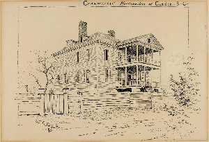 Order Art Reproduction : Cornwallace`s Headquarters, Camden, South Carolina, 1898 by Ernest Clifford Peixotto (1869-1940, United States) | WahooArt.com