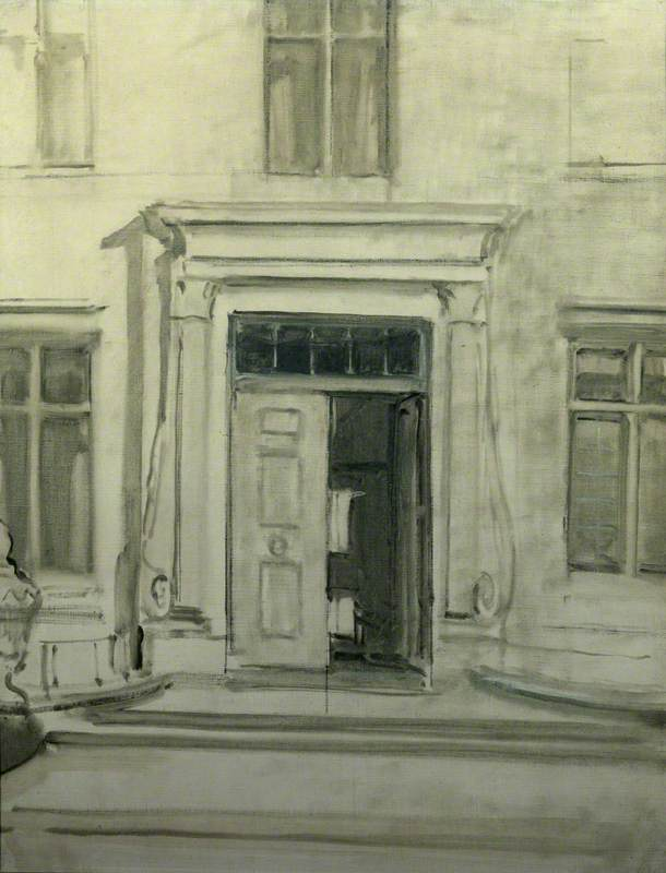The Front Door and Porch of Chartwell, Oil On Canvas by William Newzam Prior Nicholson (1872-1949, United Kingdom)
