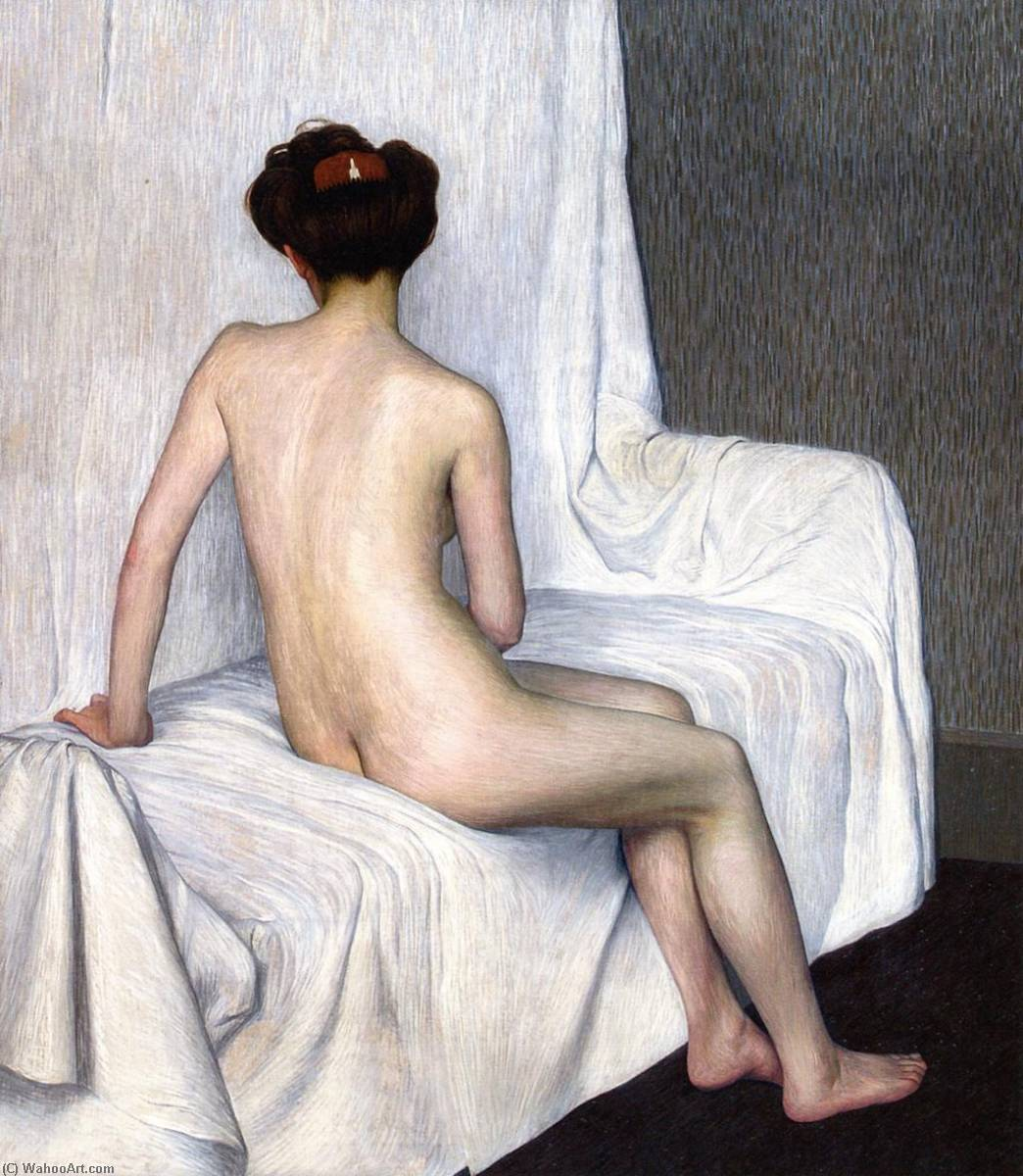 Female Nude, 1907 by Hans Emmenegger | Oil Painting | WahooArt.com