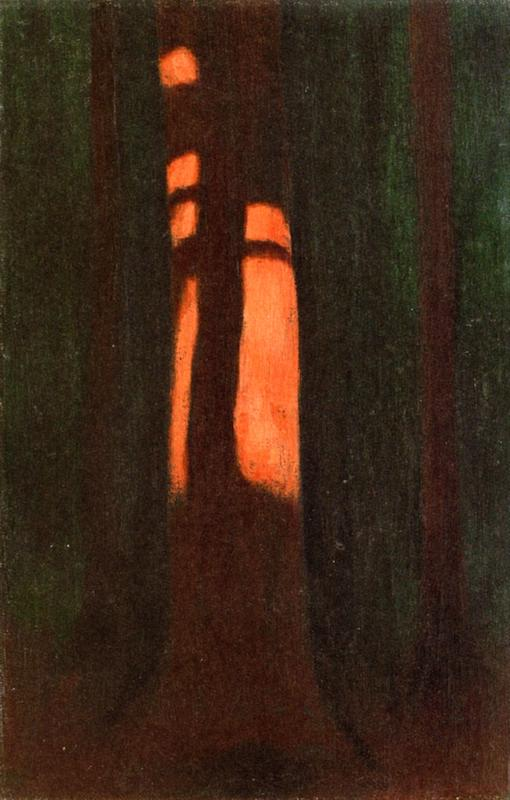 Hard Shadow Cast on Trunk, 1934 by Hans Emmenegger | Painting Copy | WahooArt.com