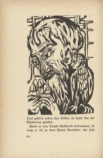 Briggel Briggel (Der Briggel Briggel) (in text plate, page 62) from Neben der Heerstrasse (Off the Main Road), Wood by Ernst Ludwig Kirchner (1880-1938, Germany)