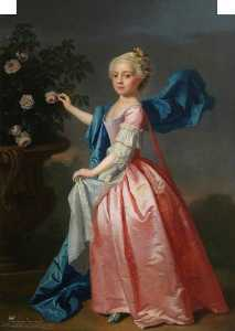 Allan Ramsay - Agnes Murray Kynynmond, Daughter of Hugh Dalrymple Murray Kynynmond, Wife of the Right Honourable Sir Gilbert Elliot of Minto, Bt, MP
