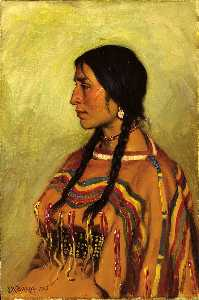 Joseph Henry Sharp - Blackfoot Indian Girl