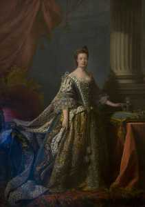 Allan Ramsay - Queen Charlotte in Her Coronation Robes