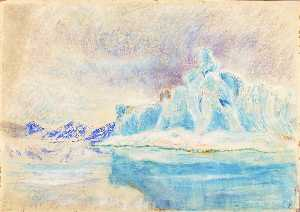 Frank Wilbert Stokes - Iceberg, Head of Bowdoin Bay, July 1892 Greenland