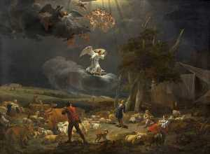 Nicolaes Berchem - The Annunciation to the Shepherds