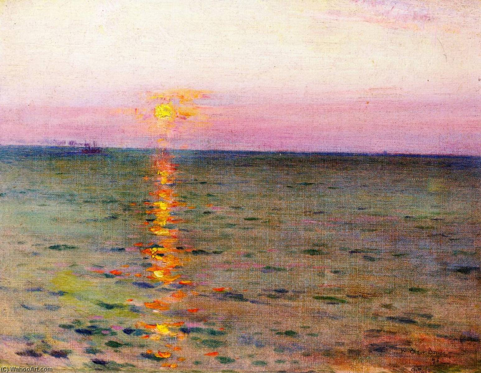 Marine Sunset, Oil On Canvas by William Blair Bruce (1859-1906, Canada)