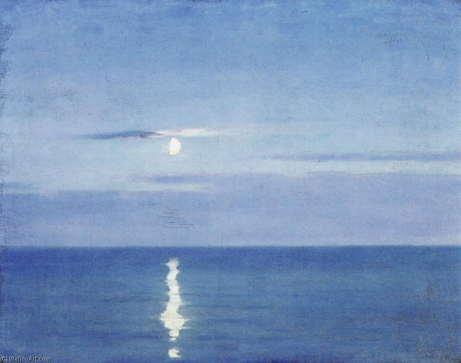 Mirror of the Moon, Oil On Canvas by William Blair Bruce (1859-1906, Canada)