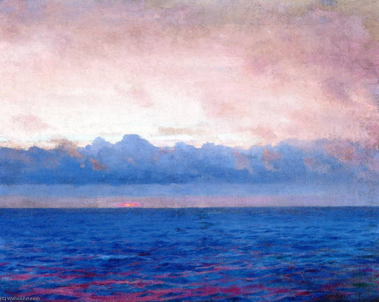 The Long Cloud (Baltic Sea), 1906 by William Blair Bruce (1859-1906, Canada) | Famous Paintings Reproductions | WahooArt.com