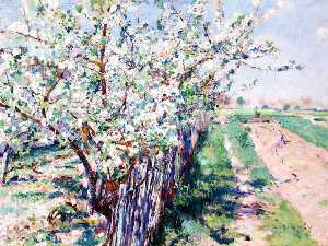 Order Museum Quality Reproductions : Fruit Trees in Bloom, Grez, 1894 by William Blair Bruce (1859-1906, Canada) | WahooArt.com