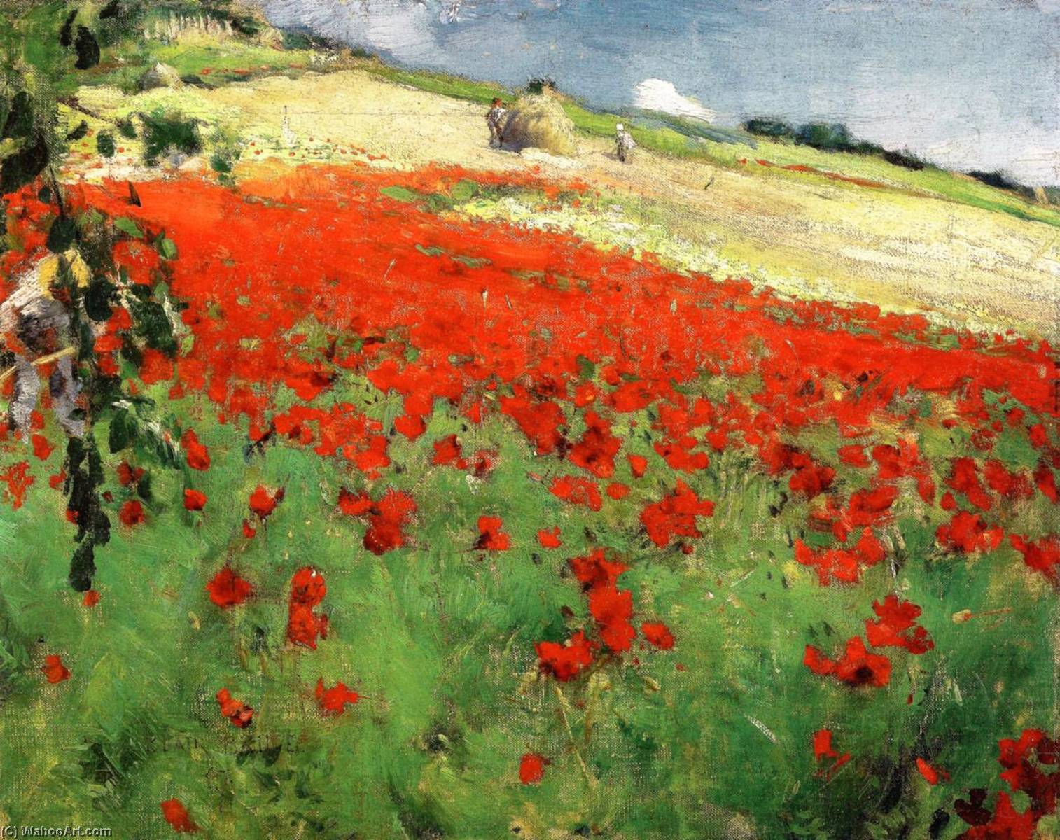 Landscape with Poppies, 1887 by William Blair Bruce (1859-1906, Canada) | WahooArt.com