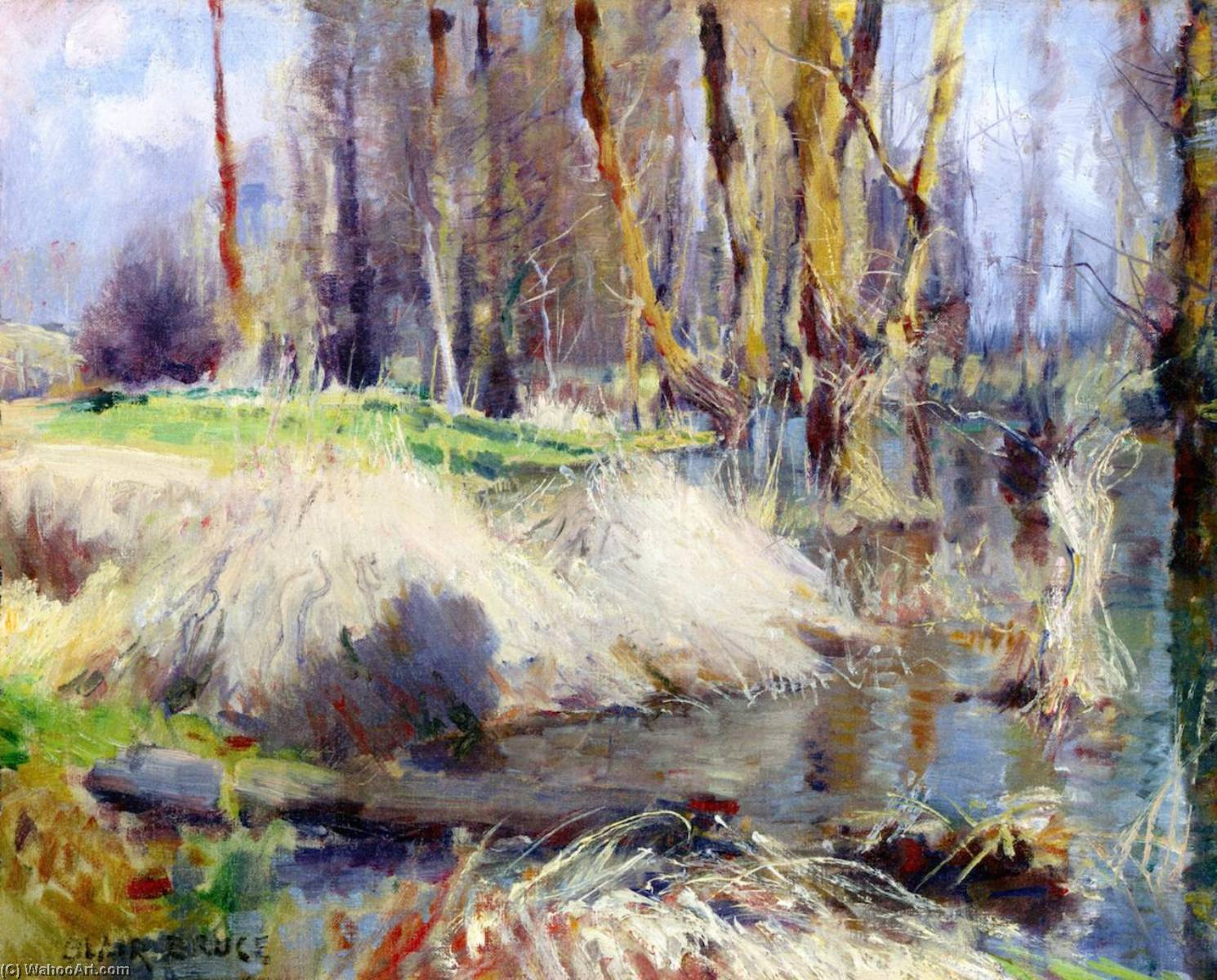 À Giverny, 1887 by William Blair Bruce (1859-1906, Canada) | Museum Quality Reproductions | WahooArt.com