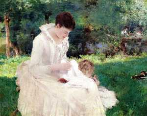 William Blair Bruce - Mother and Child (Giverny)
