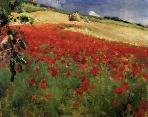 William Blair Bruce - Landscape with Poppies