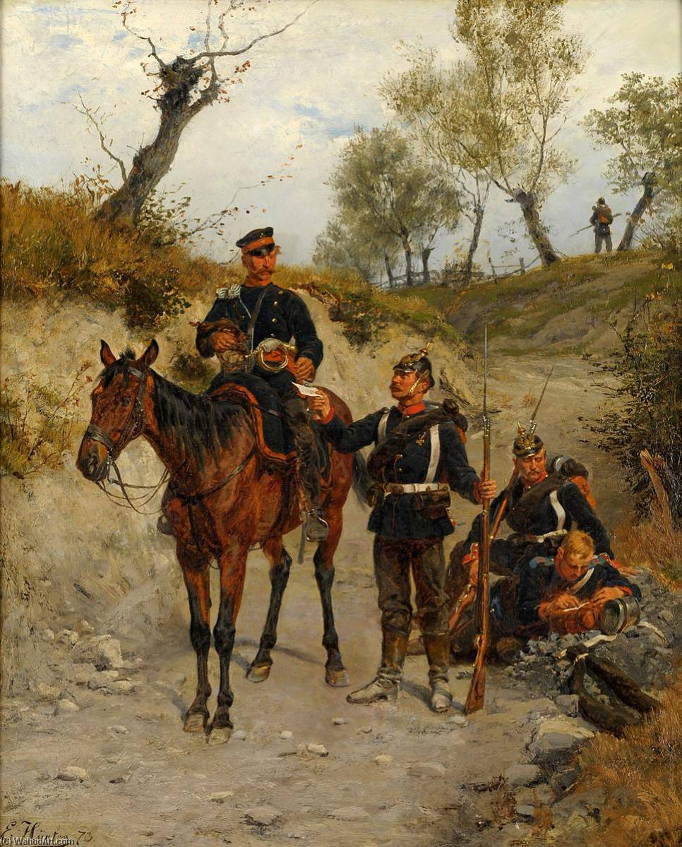 Feldpost, 1872 by Emil Hünten (1827-1902) | Art Reproduction | WahooArt.com
