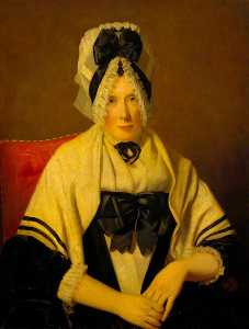 Henry Raeburn Dobson - A Lady in a Lace Cap