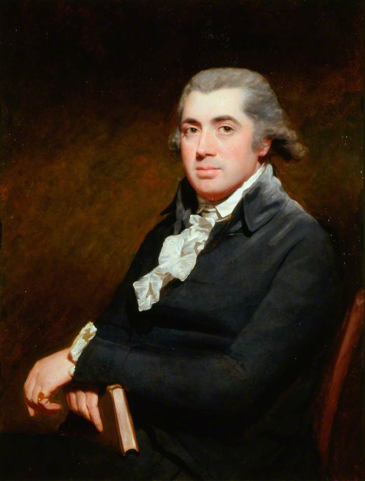 Dr James Hamilton (1749–1835), Edinburgh Physician, 1790 by Henry Raeburn (1756-1823, United Kingdom) | Oil Painting | WahooArt.com