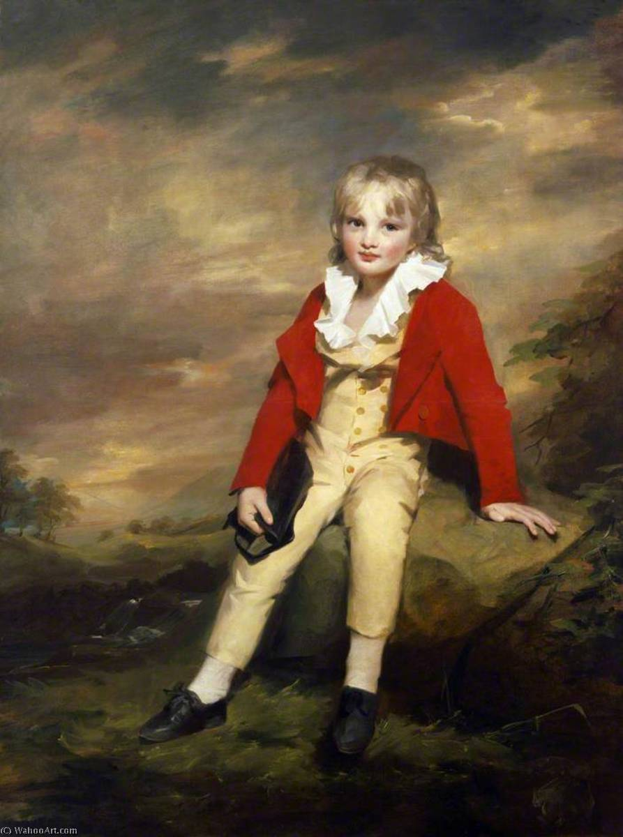 Sir George Sinclair of Ulbster (1790–1868), as a Child, 1797 by Henry Raeburn Dobson | Famous Paintings Reproductions | WahooArt.com