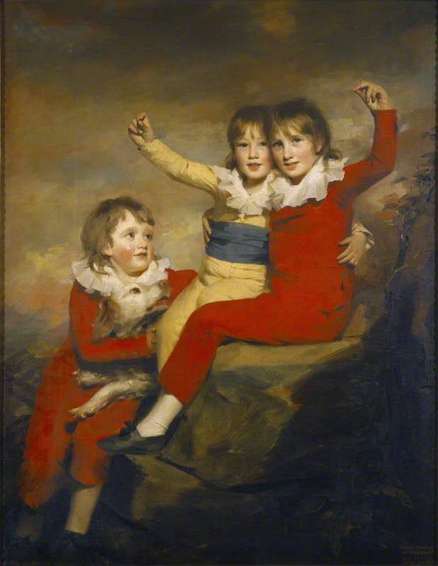 Order Paintings Reproductions | The Macdonald Children, 1800 by Henry Raeburn Dobson | WahooArt.com