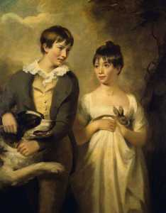 Henry Raeburn Dobson - The Children of Professor Dugald Stewart George (d.1809), and Maria (d.1846), as Children