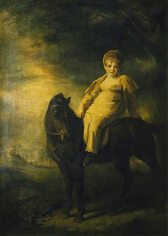 Archibald Montgomerie (1812–1861), Later 13th Earl of Eglinton, PC, KT, as a Boy on Horseback, 1818 by Henry Raeburn Dobson | Painting Copy | WahooArt.com