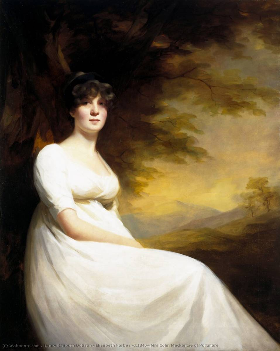 Elizabeth Forbes (d.1840), Mrs Colin Mackenzie of Portmore, 1805 by Henry Raeburn Dobson | Reproductions Henry Raeburn Dobson | WahooArt.com
