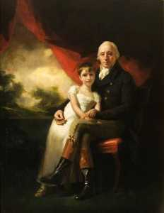 Henry Raeburn - John Stirling of Kippendavie (1742–1816), and His Youngest Daughter, Jean Wilhelmina (1804–1859)