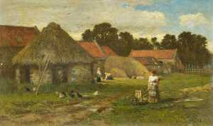 George Reid - Old Farmyard near Stirling