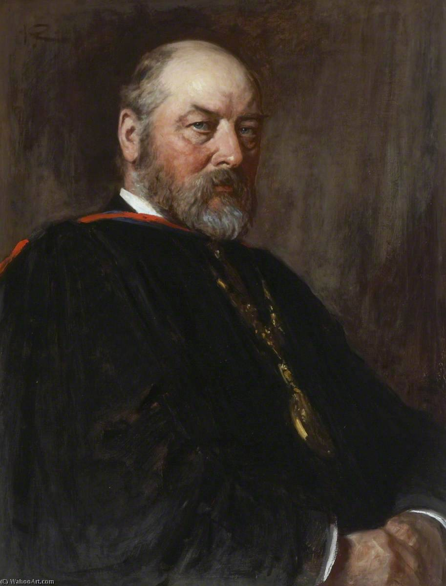 Alexander Ross (1834–1925), 1896 by George Agnew Reid (1860-1947, Canada) | Reproductions George Agnew Reid | WahooArt.com
