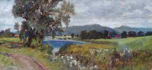 George Agnew Reid - Landscape with a Lake