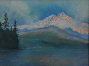 Mary Agnes Yerkes - Up at Dawn, (painting)