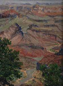 Mary Agnes Yerkes - Moran Point, (painting)