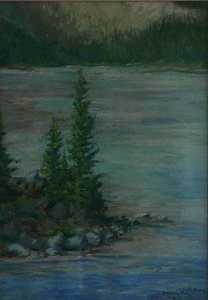 Mary Agnes Yerkes - Morraine Lake, (painting)