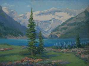 Mary Agnes Yerkes - Victoria Glacier and Lake Louise, (painting)