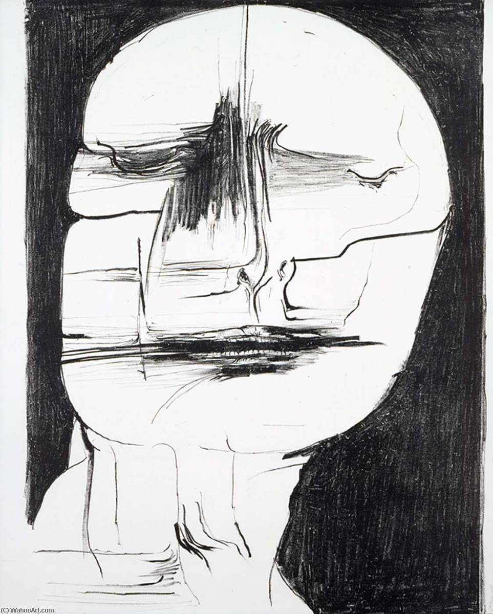 Indian Faces, Paper by Leonard Baskin (1922-2000, United States)