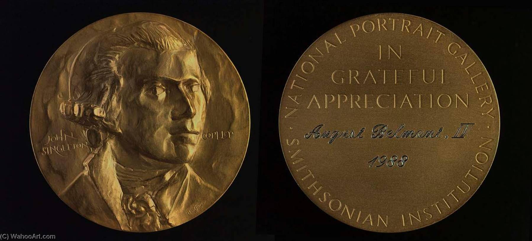 The John Singleton Copley Medal, Gold by Leonard Baskin (1922-2000, United States)