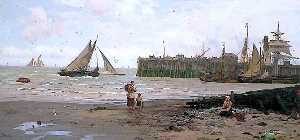 John Fraser - Low Tide, Whitstable Harbour, Kent