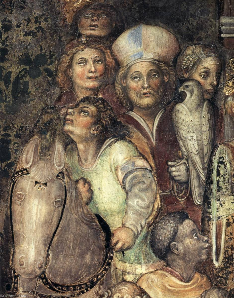 Theodolinda Cycle (scene No. 31, detail), Frescoes by Franceschino Zavattari
