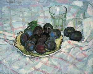 Henry Lamb - Plums on a Dish