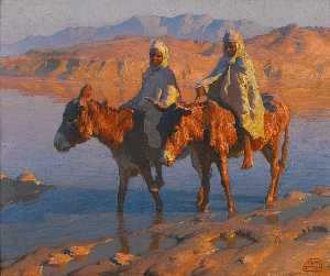 Adam Styka - Crossing the Wadi