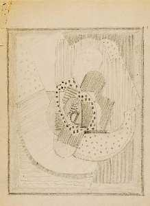 Blanche Lazzell - Untitled (Abstract Sketch 9)