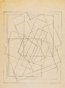 Blanche Lazzell - Untitled (Abstract Sketch 1)