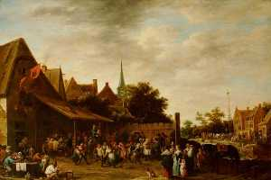 David The Younger Teniers - A Village Wake on St George's Day