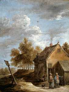 David The Younger Teniers - A Cottage
