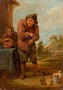 David Teniers Ii Le Jeune - The Sense of Feeling